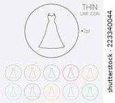 woman dress sign icon. elegant...   Shutterstock .eps vector #223340044