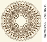 vector ornamental round lace... | Shutterstock .eps vector #223340911