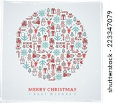 vintage christmas elements... | Shutterstock .eps vector #223347079