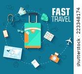 tour of the world seamless... | Shutterstock .eps vector #223348174