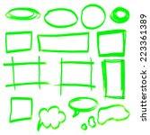 vector highlighter elements  ... | Shutterstock .eps vector #223361389