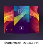 mobile interface wallpaper... | Shutterstock .eps vector #223361644