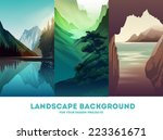 vector landscape background | Shutterstock .eps vector #223361671