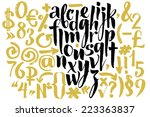 vector alphabet. hand drawn... | Shutterstock .eps vector #223363837