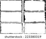 grunge frame set. vector... | Shutterstock .eps vector #223380319