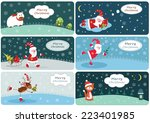 set of christmas banners with... | Shutterstock .eps vector #223401985