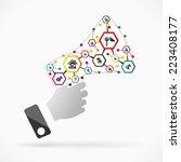real estate advertising | Shutterstock .eps vector #223408177