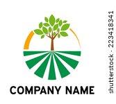 vector sign organic farming ... | Shutterstock .eps vector #223418341