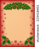 merry christmas card with red... | Shutterstock . vector #223418401