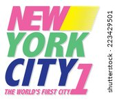 new york city typography  t... | Shutterstock .eps vector #223429501