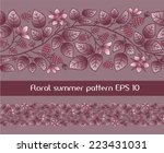 summer seamless border template ... | Shutterstock .eps vector #223431031