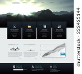 vector website template design... | Shutterstock .eps vector #223435144