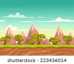 seamless cartoon nature... | Shutterstock .eps vector #223436014