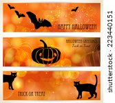 halloween banners with black... | Shutterstock .eps vector #223440151