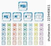 accumulator icons. battery... | Shutterstock .eps vector #223440811