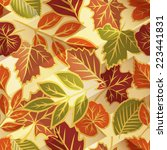 autumn leaves seamless pattern | Shutterstock .eps vector #223441831