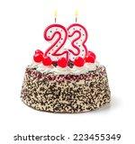 Birthday Cake With Burning...
