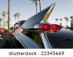 classic retro 50's chrome car... | Shutterstock . vector #22345669