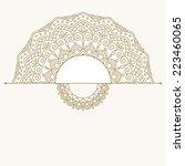 floral oriental pattern. | Shutterstock .eps vector #223460065