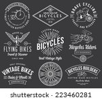 vector bicycle badges and... | Shutterstock .eps vector #223460281