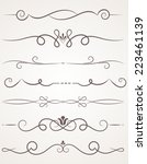 calligraphic decorative... | Shutterstock .eps vector #223461139