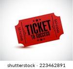 ticket to success concept...   Shutterstock . vector #223462891