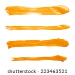 handmade straight oil paint... | Shutterstock . vector #223463521