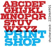 vector slab serif font with... | Shutterstock .eps vector #223464901