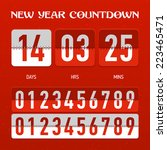 new year countdown. vector. | Shutterstock .eps vector #223465471