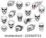 horror  halloween and danger... | Shutterstock .eps vector #223465711