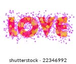 love card and hearts | Shutterstock . vector #22346992