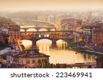 colorful sunset over ponte... | Shutterstock . vector #223469941