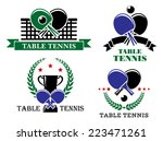 four table tennis emblems or...