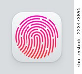 id app icon. fingerprint vector ... | Shutterstock .eps vector #223473895