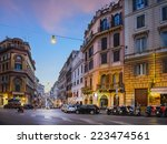 evening cityscape. streets of... | Shutterstock . vector #223474561