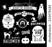 set of halloween party... | Shutterstock .eps vector #223478185