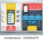 abstract vector business flyer... | Shutterstock .eps vector #223481479