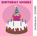 birthday bug | Shutterstock . vector #223485