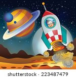 image with space theme 3  ... | Shutterstock .eps vector #223487479