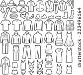 clothes icon collection  ... | Shutterstock .eps vector #223496164