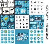 flat concept  set modern design ... | Shutterstock .eps vector #223497241