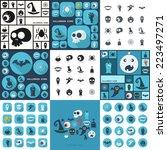 flat concept  set modern design ... | Shutterstock .eps vector #223497271
