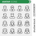 set of thin line avatar icons. | Shutterstock .eps vector #223500859