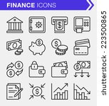 set of thin line finance and... | Shutterstock .eps vector #223500865