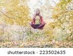 levitation portrait of... | Shutterstock . vector #223502635