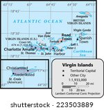 virgin islands territory map | Shutterstock .eps vector #223503889