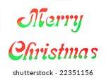 merry christmas banner isolated ... | Shutterstock . vector #22351156
