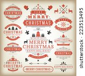 christmas decoration vector... | Shutterstock .eps vector #223513495