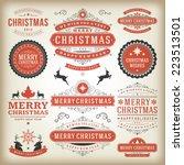 christmas decoration vector... | Shutterstock .eps vector #223513501