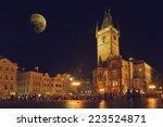 Prague Old Town Hall At Night...